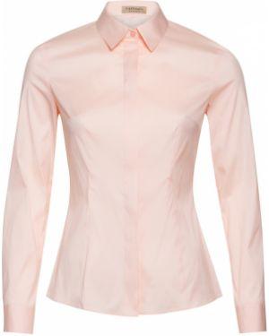 Блузка с длинным рукавом розовая приталенная Vassa&co