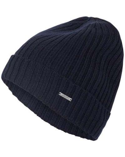 Prążkowana niebieska czapka wełniana Joop! Collection