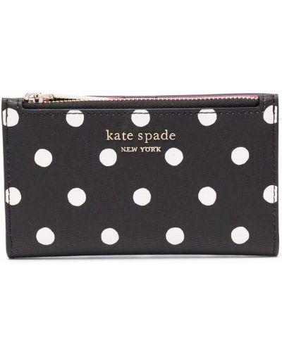 Czarny portfel skórzany Kate Spade