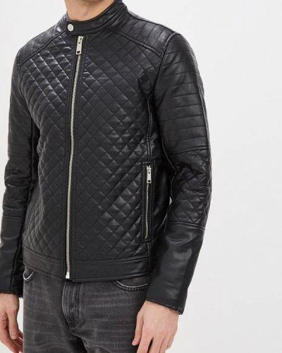 Кожаная куртка черная Colin's