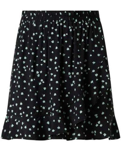 Czarna spódnica z wiskozy Tom Tailor Denim