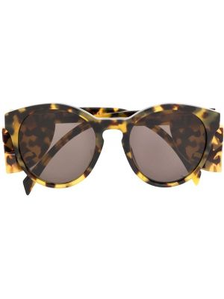 Прямые муслиновые черные солнцезащитные очки круглые Moschino Eyewear