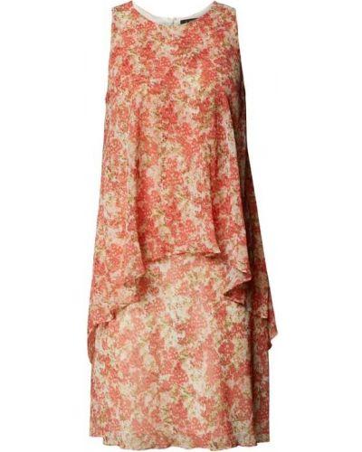 Biała sukienka bez rękawów Lauren Ralph Lauren