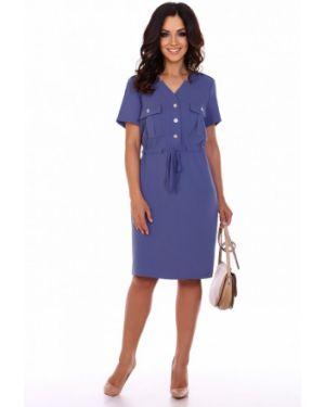 Платье из вискозы синее инсантрик