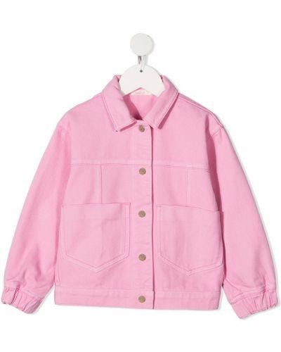 Klasyczna różowa długa kurtka bawełniana Billieblush