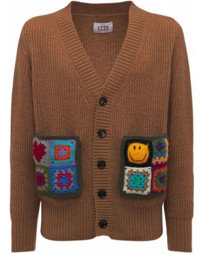 Brązowy sweter z akrylu Lc23