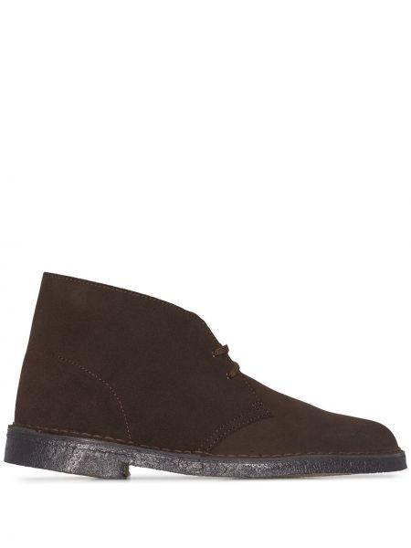 Коричневые кожаные ботинки Clarks Originals