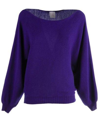 Fioletowy sweter Stella Jean
