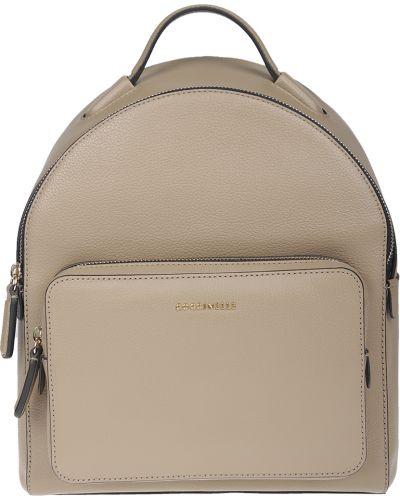 Кожаный рюкзак - бежевый Coccinelle