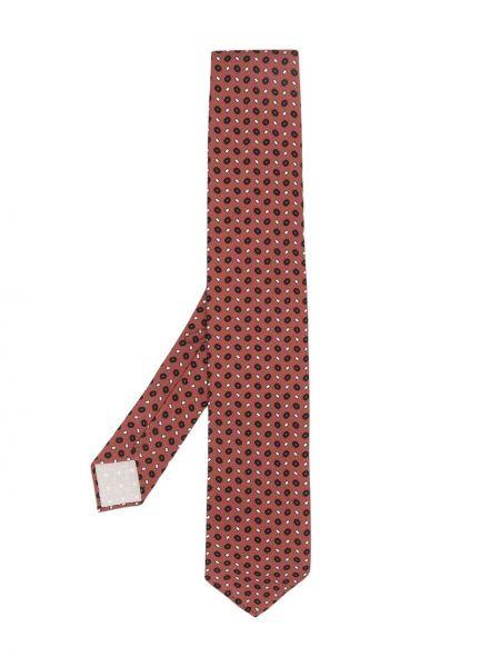 Krawat z jedwabiu z printem w szpic Lardini