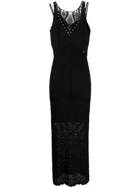 Платье миди черное приталенное Twin-set