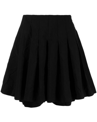 Черная плиссированная юбка-шорты с карманами Comme Des Garçons Pre-owned