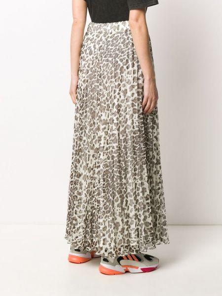 Плиссированная юбка макси леопардовая P.a.r.o.s.h.