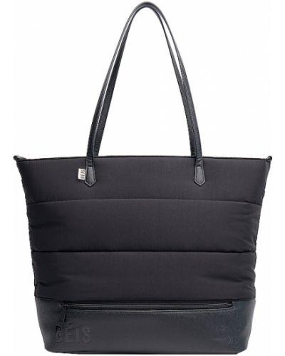 Czarna torba podróżna skórzana Beis