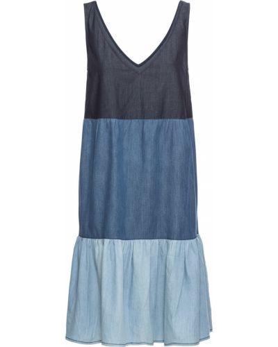 Джинсовое платье платье-сарафан синее Bonprix