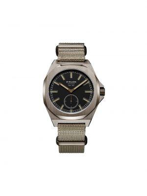 Z paskiem czarny zegarek kwarcowy okrągły z klamrą D1 Milano