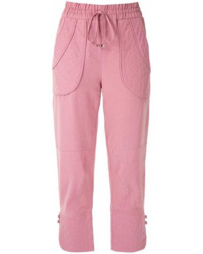 Розовые укороченные брюки с поясом Cruise