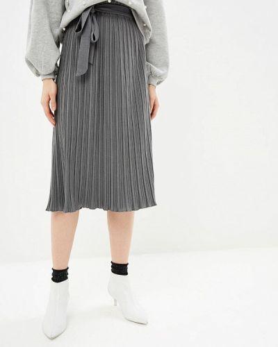Плиссированная юбка серая Zarina