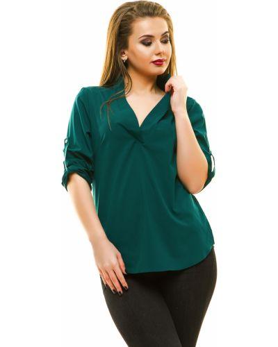 Блузка свободного кроя зеленый Lacywear