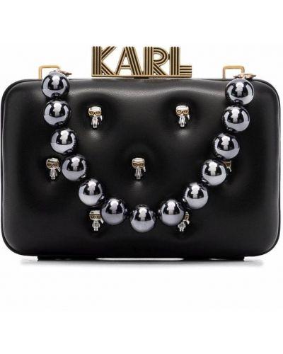 Złota kopertówka - czarna Karl Lagerfeld