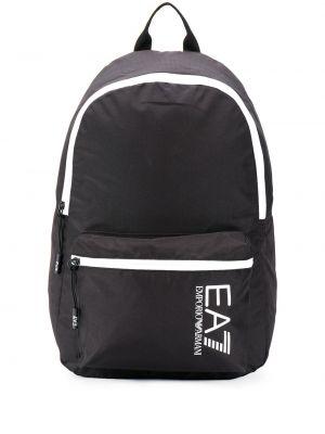 Plecak z printem - biały Ea7 Emporio Armani