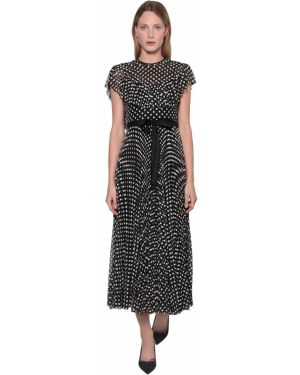 Платье миди с вышивкой из фатина Red Valentino