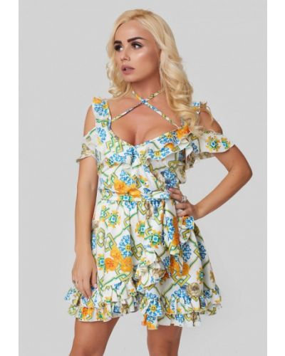 Платье с запахом осеннее Luxlook