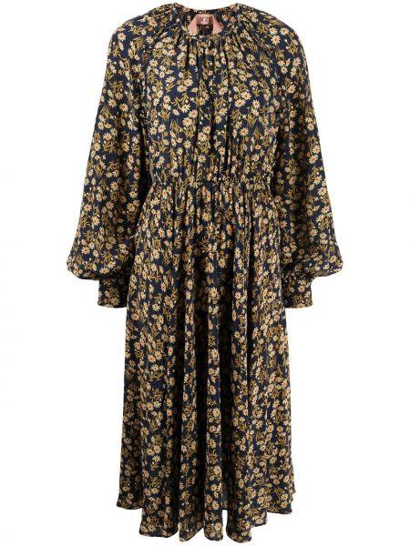 Шелковое платье миди N°21