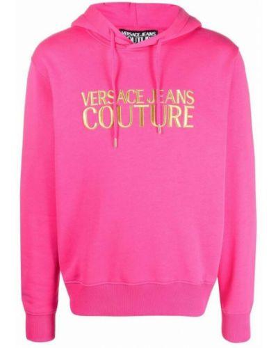 Bluza dresowa - różowa Versace Jeans Couture