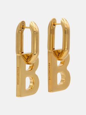Базовые серьги-гвоздики золотые Balenciaga