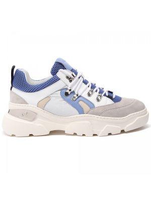 Кожаные кроссовки на шнуровке закрытые Baldinini