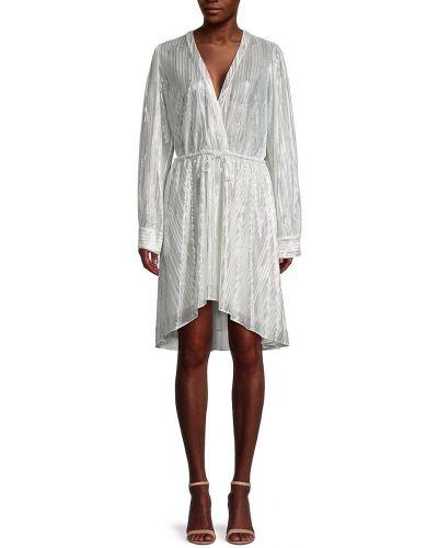 Серебряное платье с нашивками Iro
