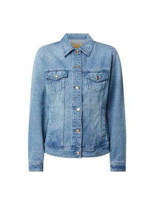 Niebieski bawełna kurtka jeansowa z kołnierzem Michael Michael Kors