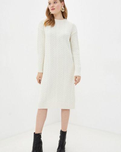 Белое вязаное платье Mavi