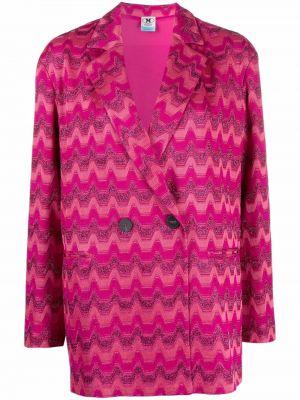 Розовый пиджак с лацканами M Missoni