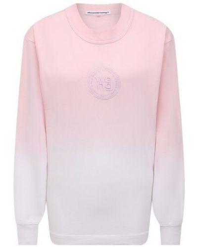 Розовая хлопковая футболка Alexanderwang.t