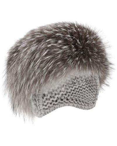 Вязаная шапка из лисы Inverni
