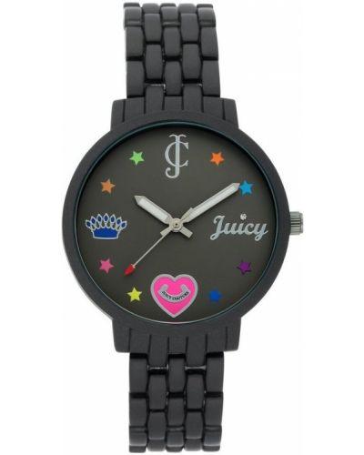 Czarny zegarek mechaniczny kwarc Juicy Couture