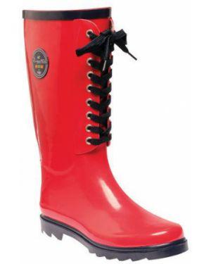 Ботинки на каблуке красные Regatta