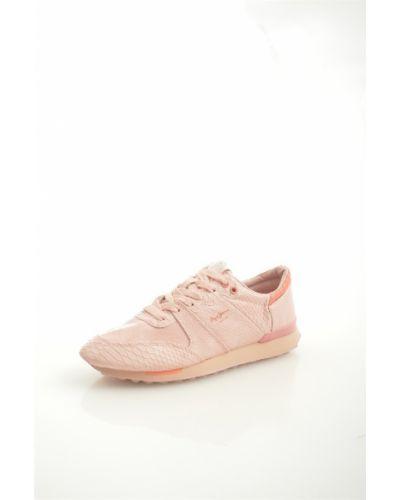 Джинсы mom розовый Pepe Jeans