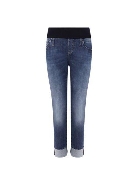 Синие джинсы с манжетами из плотной ткани эластичные Pietro Brunelli