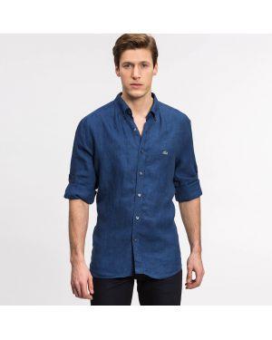 Рубашка льняная синий Lacoste
