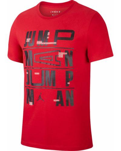 Хлопковая красная футболка с короткими рукавами Jordan