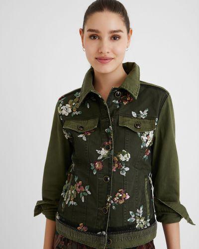 Джинсовая куртка с вышивкой Desigual