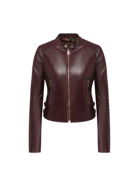 Кожаная куртка джинсовая однотонная Dolce & Gabbana