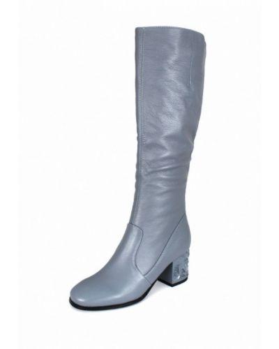 Кожаные сапоги осенние на каблуке Blizzarini