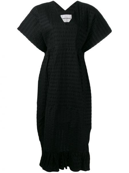 Платье мини миди с V-образным вырезом Henrik Vibskov