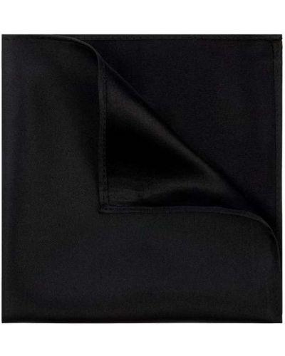Jedwab czarny chusteczka Monti