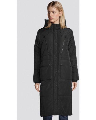 Утепленная черная джинсовая куртка Tom Tailor Denim