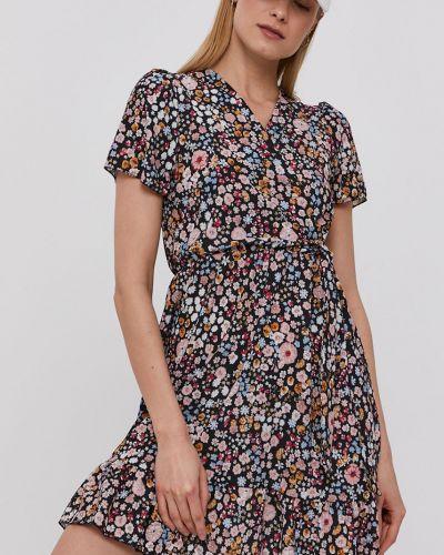 Sukienka mini w kwiaty rozkloszowana z falbanami Hailys